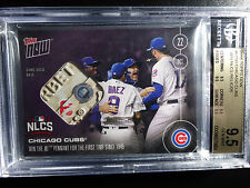 2016 Topps Now #615D Cubs Win NL Pennant NLCS 25/25 Game Used Base 9.5 BGS Card