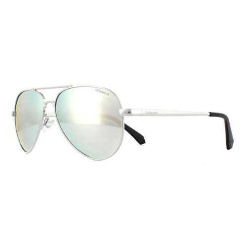 Polaroid Kids Sunglasses 8015//N//NEW 010EX Palladium Grey Silver Mirror Polarized