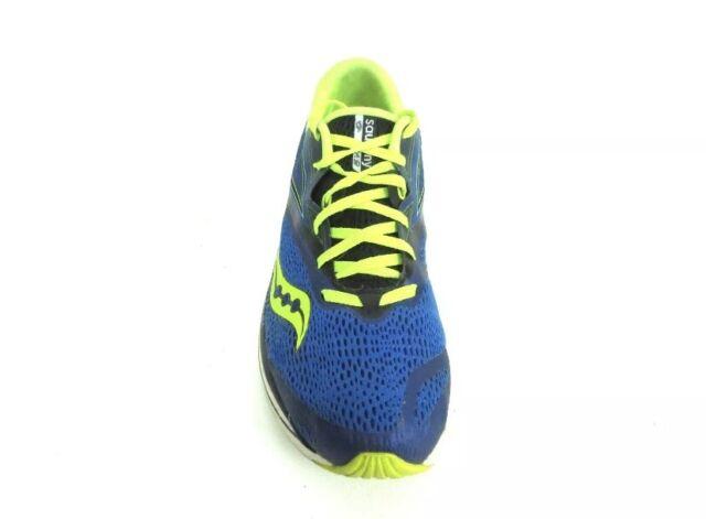 Saucony Kinvara 9 Everun Men's Running Shoes Sz 11 Blue Black Citron S20418-4