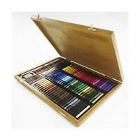 Conte Carres Crayons - 84 Colours Bamboo Wooden Box