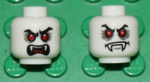 LEGO 2x Dracula HEAD Dual Side Glow in the Dark NEW!!!!!