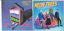 NEON TREES 2 STICKERS Pop Psychology OFFICIAL PROMO 2014 New Mint RARE CHEAP!