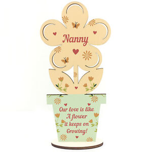 Image Is Loading Mothers Day Nanny Gift Wood Flower For
