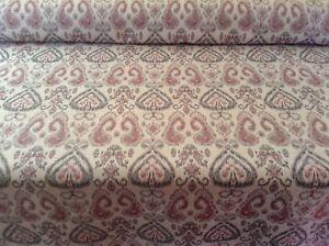 Konya-Ikat-Jacquard-Persa-Rojo-Gris-Cortina-artesania-Tela-de-tapiceria