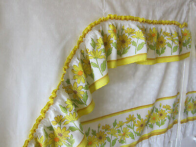 Vintage Sears Complete Set Kitchen Floral Curtains And Valances Ebay