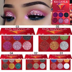 6-Colori-Giltter-trucco-Ombretto-Ombretto-Palette-Cosmetic-Set-Eye-Shadow-Caldo