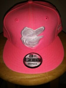 online store ce2be eb4ba Image is loading Baltimore-Orioles-Pink-Hat-Breast-Cancer-Awareness-Cap-