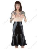 581 Latex Rubber Gummi trumpet buttons Skirt dress customized 0.4mm sexy catsuit