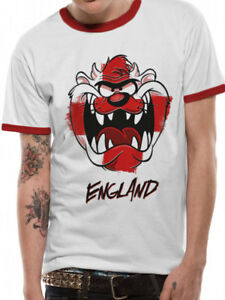 bc2f8ddec8ab7f Image is loading Looney-Tunes-England-Taz-Mens-Clothing-Official-T-