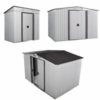 3 Size Shed Storage Kit Metal Garden Building Doors Steel Outdoor Diy Backyard