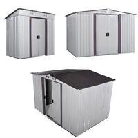 3 Size Shed Storage Kit Metal Garden Building Doors Steel Outdoor Diy Backyard