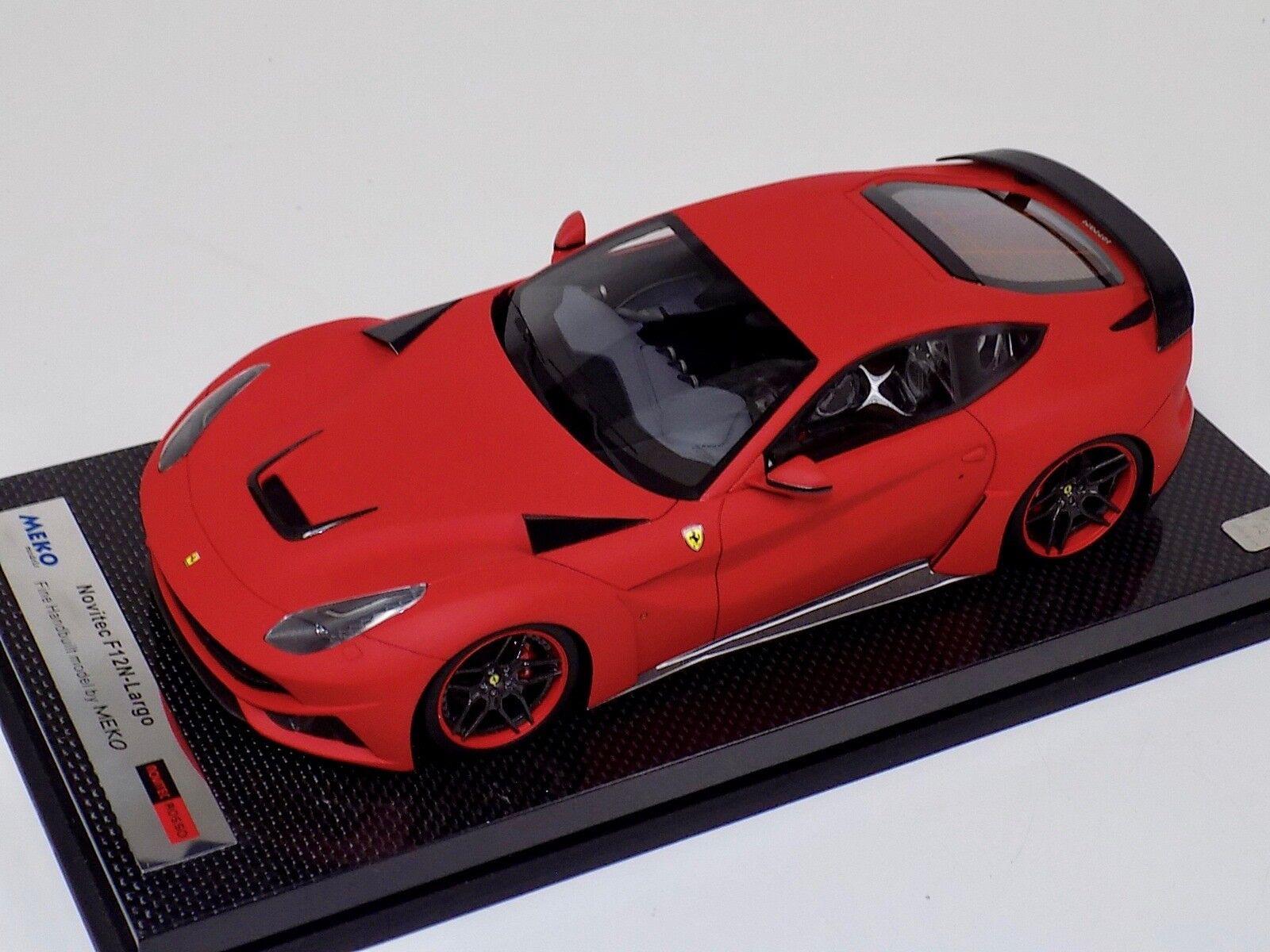 1 18 Meko Ferrari F12 N-Largo Novitec Matte Brillant Rouge Carbone base BBR ou M.