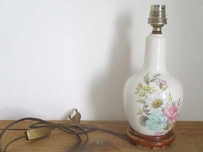 Pied de lampe en porcelaine, base en bois, période début XXème   eBay