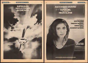 SUPERGIRL-Original-1983-Trade-AD-poster-4pg-movie-promo-HELEN-SLATER-1984