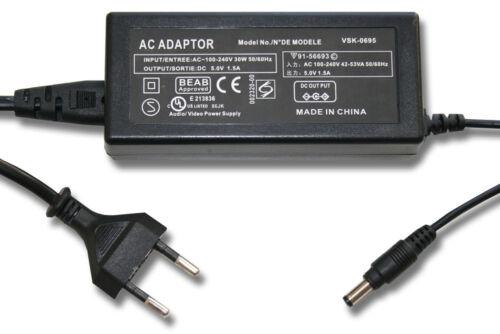 Fuente alimentación videocámara cargador 5.0v 1.6a para Panasonic vsk0781 vsk0784