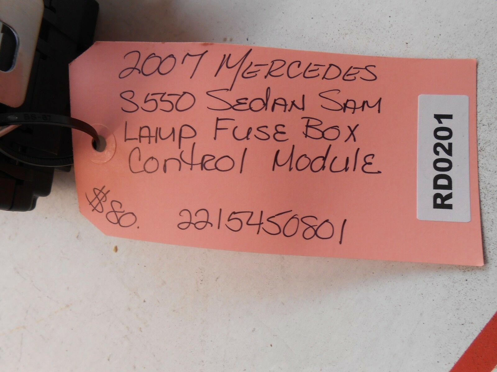 07 Mercedes S550 Sedan Sam Lamp Fuse Box Control Mod 2215450801 Rd0201 Ebay