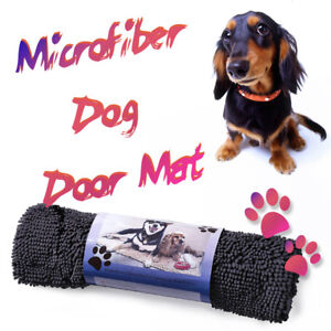 Image Is Loading Dirty Pet Doormat  Durable Absorbent Microfiber Chenille Washable