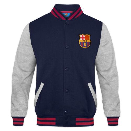 FC Barcelona Calcio Ufficiale Regalo Ragazzi Retro Giacca Varsity Baseball