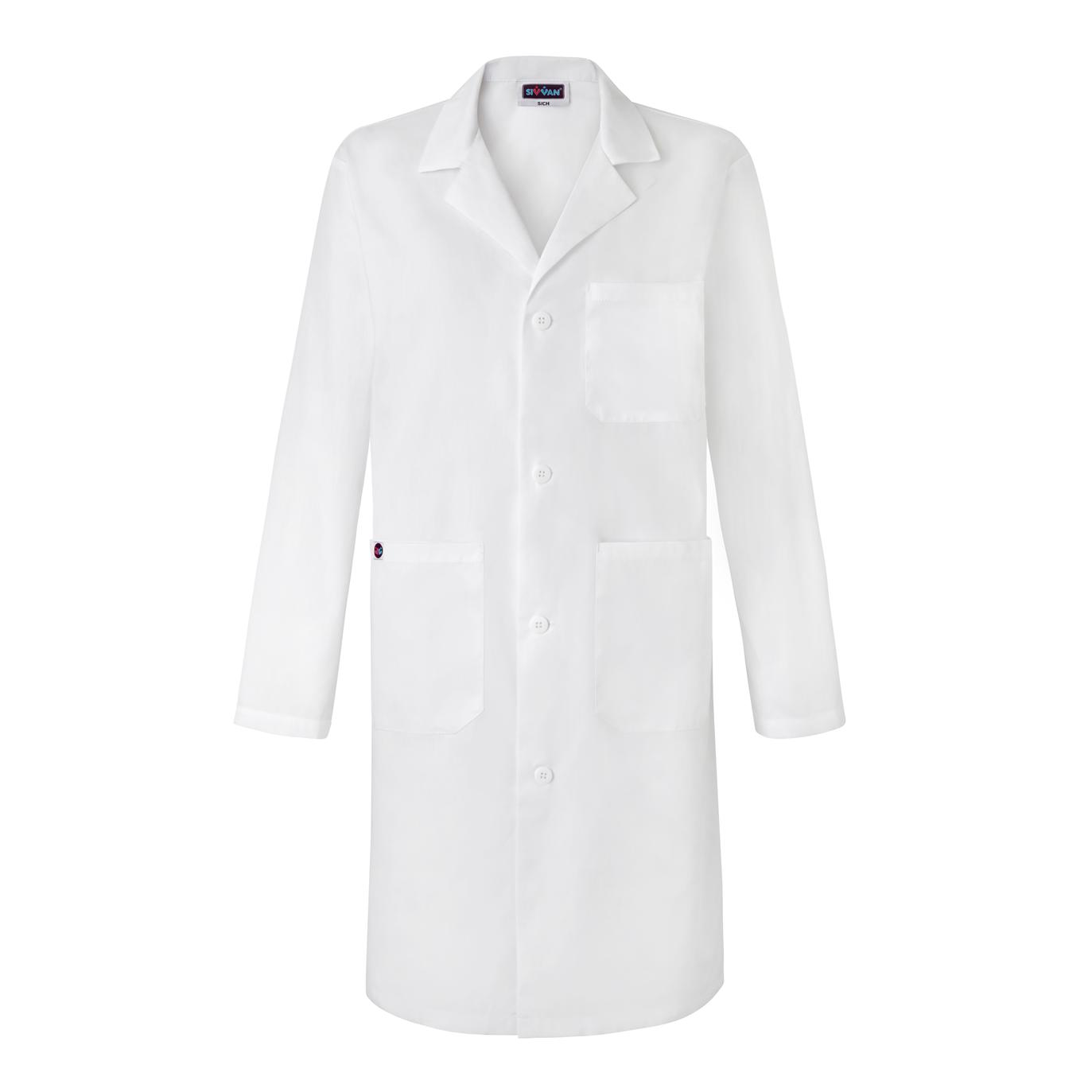 Unisex Large UltraSource Long Sleeve Smock//Lab Coat Black