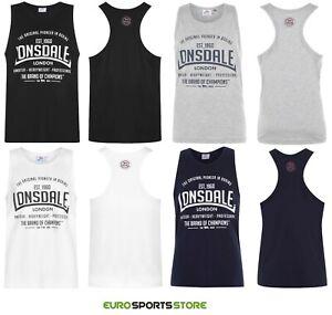 Lonsdale-Mens-Boxing-Gym-Muscle-Vest-Singlet-Size-XS-S-M-L-XL-2XL-3XL-4XL-Sports