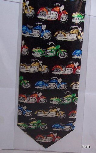 Colourful Motorbikes Silk Tie