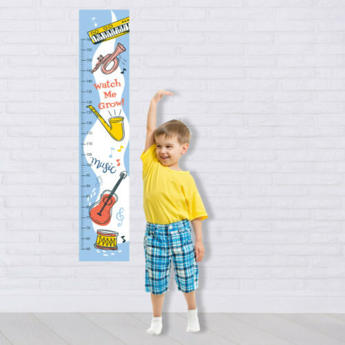 Personalised FABRIC Height Growth Chart Music Cute Instruments  Add Name DOB