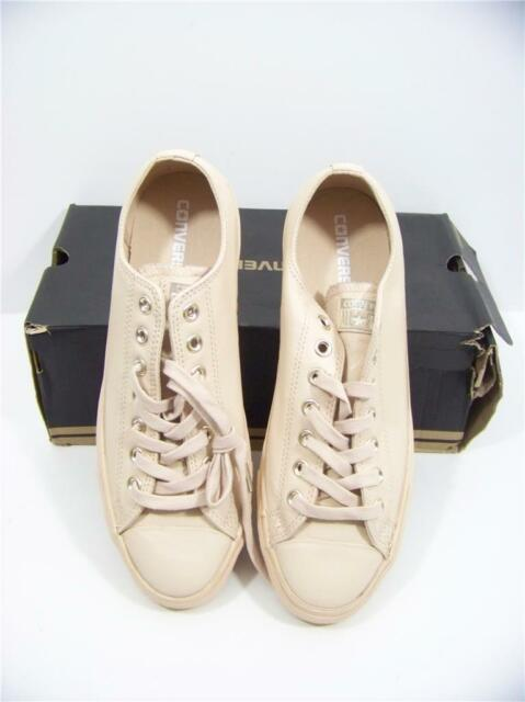 ce5a6f9ac1af Converse Leather All Star Blush Low Ivory Cream Light Gold Exclusive  Sneakers