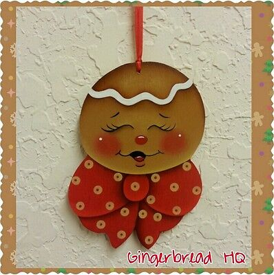 Wooden Christmas Crafts.Hp Handpainted Gingerbread Man Wooden Christmas Ornament Christmas
