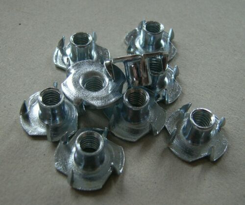 Blind Nuts. Captive Nuts Tee Nuts 4 Pronged M6 x 9 mm