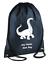 PERSONALISED Drawstring Bag Brontosaurus DINOSAUR School PE Kit Sport Girls Boys