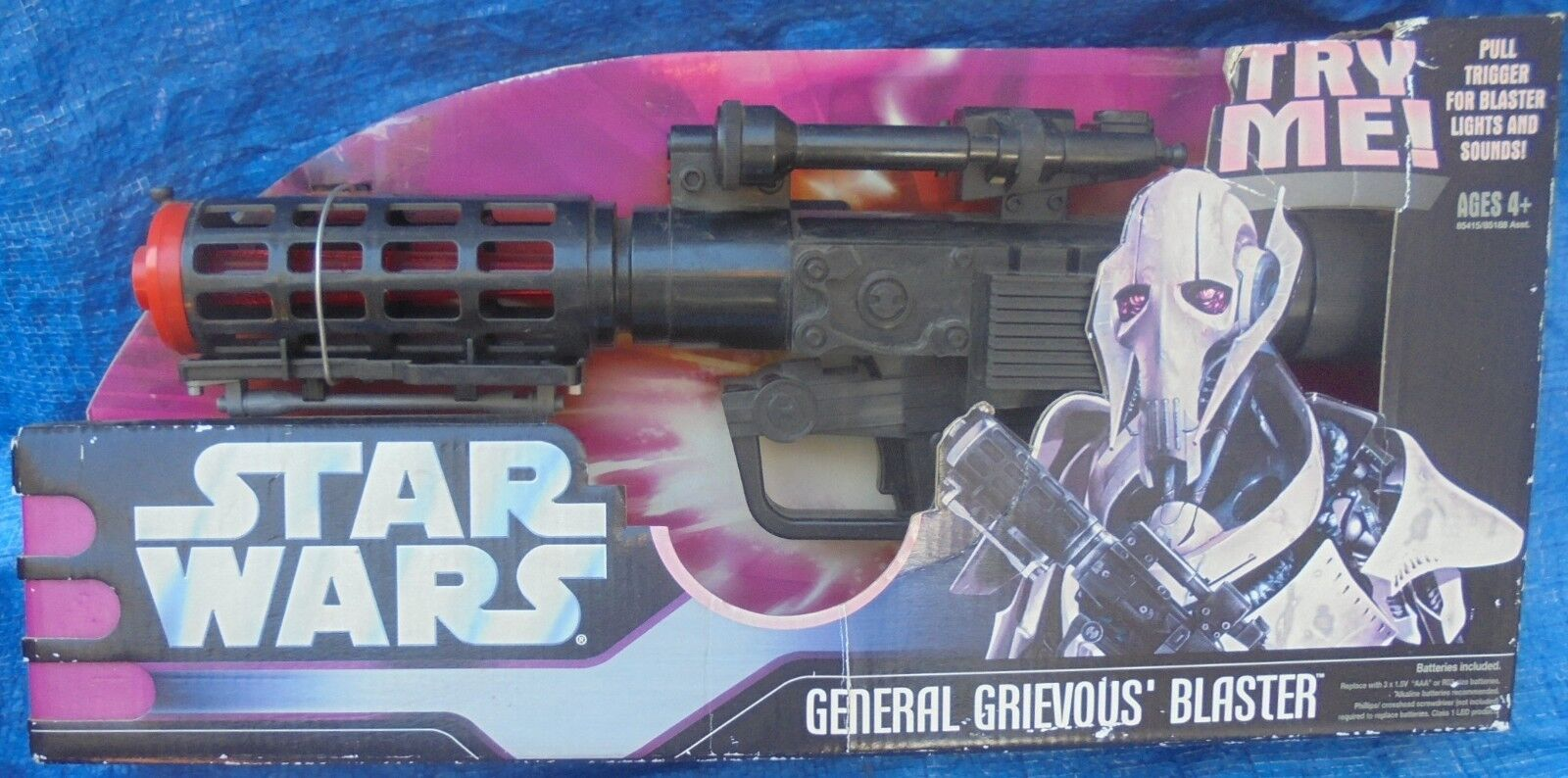 Star Wars General Grievous Blaster MIP 2005 Hasbro redS Revenge Of The Sith NRFP
