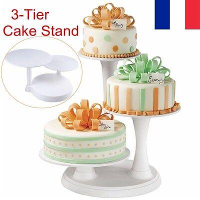 Plastique retourner Décoration Gâteau Stand c