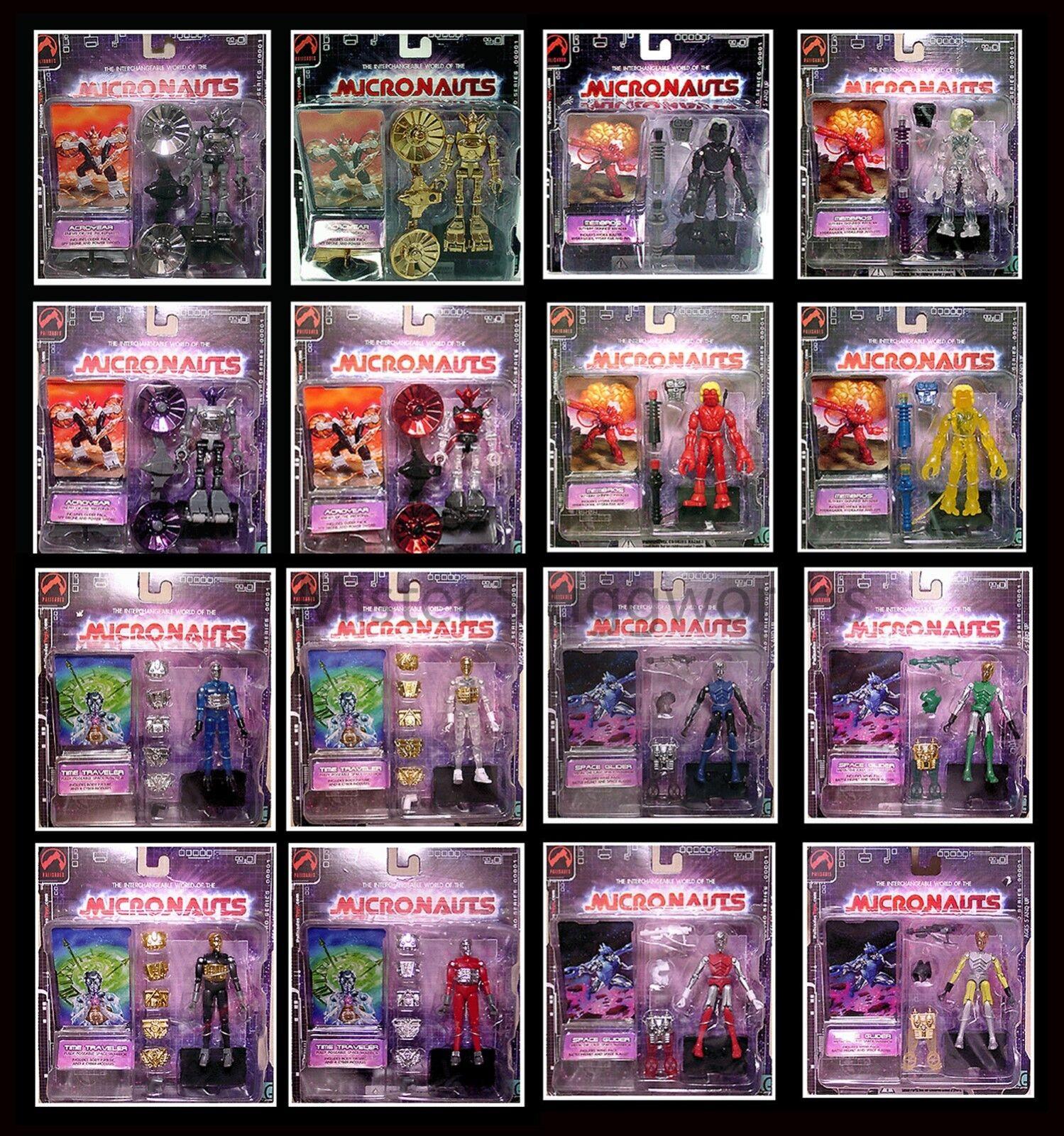 NEW Micronauts Microman Palisades 2002 Series 1 Set of 16 MOC Case MIB Rare
