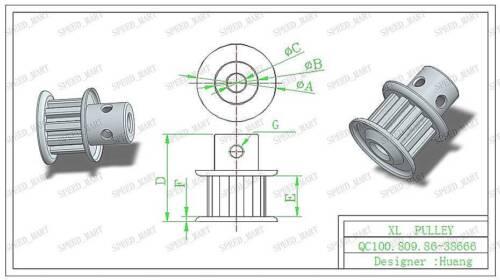 2pcs XL XL10 Timing Poulies 10 dents 6.35 mm alésage /& 110XL ceinture pour axes Pas à Pas Moteur