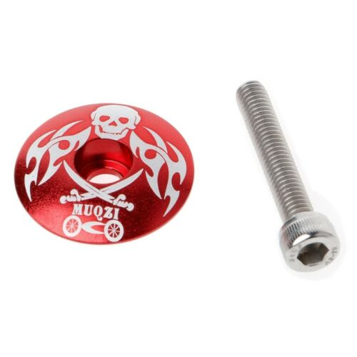 Mountain Bike Stem Top Cap Cover Headset Screws Bicycle Cycling Accessories Set