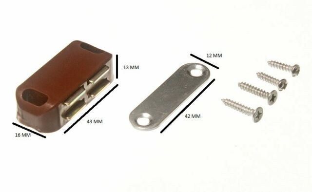 Single Magnetic Catch + Plate And Fixing Screws 5 KG Pull Pack 100