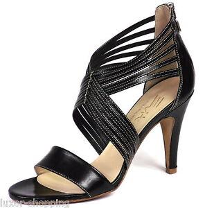 Evita-Shoes-Leder-Sandalette-Sandalen-Gr-40-Damen-Schuhe-schwarz-NEU