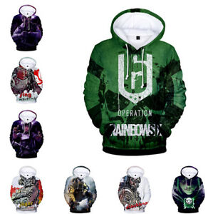 choisir véritable vente chaude chaussures authentiques Détails sur Rainbow Six Siege Sweat à Capuche Sweat-shirt Cosplay Casual  Pull-over Pull Unisexe Tops- afficher le titre d'origine