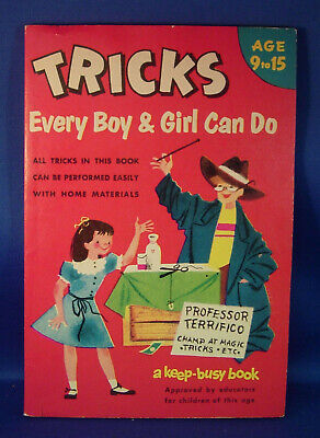1953 Tricks Every Boy & Girl Can Do, Age 9 to 15, A Keep Busy Book ...