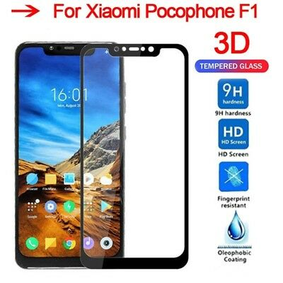 3X For Xiaomi pocophone F1 3D Full Cover 9H Tempered Glass Screen Protector Film