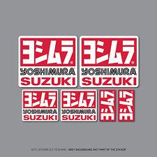 SKU2412 - 6 x Yoshimura Exhausts - Suzuki -  Decals - Stickers