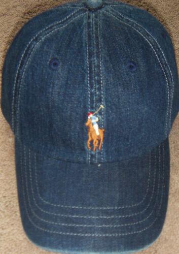 New Mens Polo Ralph Lauren Classics Denim Pony Baseball Hat Cap Adjustable