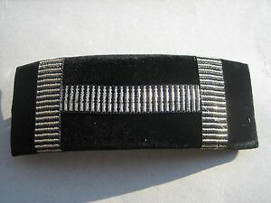 SCHONE-HAARSPANGE-10-x-3-5-CM-SCHWARZ-MIT-GOLD-VERZIERUNG