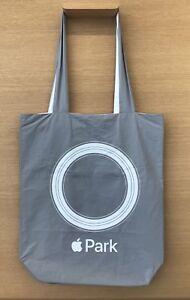 Brand New Apple Park Logo Tote Bag Grey White Logo Launch Shopping Sealed In Bag