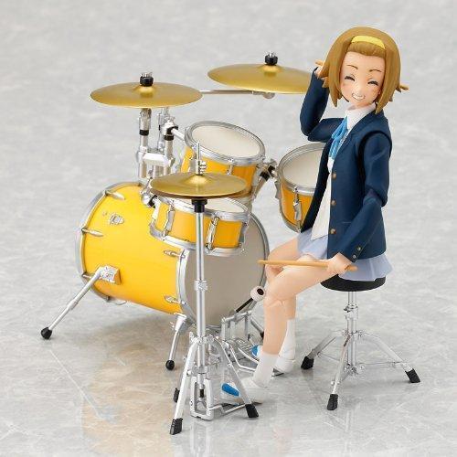 kb04c K-ON with Drumset figma Action Figure Ritsu Tainaka School Uniform Ver