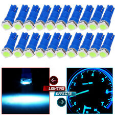 20x Blue T5 Wedge 1-5050-SMD LED for Dashboard Panel Bulb Light T5 17 18 27