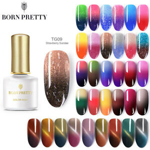 BORN-PRETTY-Farbwechsel-UV-LED-Gel-Nagellack-Nail-Polish-Manikuere-Blau-Rosa
