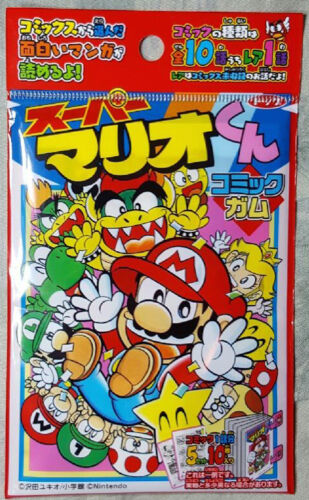 from Japan NEW! comic gum stickers Japanese SUPER MARIO cards