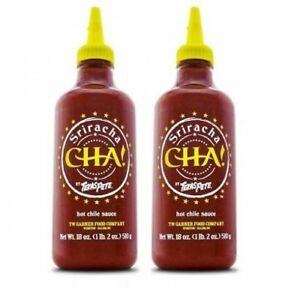 Details about Sriracha Cha Texas Pete Hot Chili Sauce 2 Bottle Pack