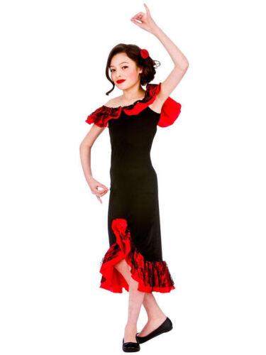 Child SPANISH SENORITA GIRLS Flamenco Fancy Dress Costume Rumba  Age 5-13 Y